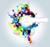 Tarjeta de visita abstracta de alta tecnología del arco iris Imagen de archivo libre de regalías