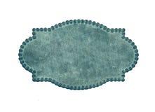 Tarjeta de visita azul de la vendimia Imagenes de archivo
