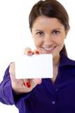 Tarjeta de visita blanca de Professional?s Imagenes de archivo