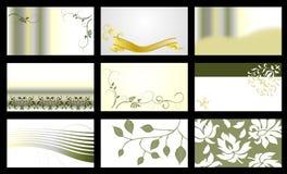 Tarjeta de visita - colección del vector Imágenes de archivo libres de regalías