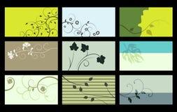Tarjeta de visita - colección del vector Foto de archivo