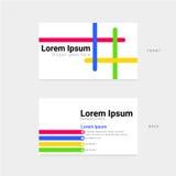 Tarjeta de visita colorida para la identidad corporativa stock de ilustración