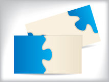 Tarjeta de visita con diseño del rompecabezas stock de ilustración