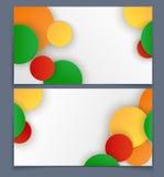 Tarjeta de visita con el modelo geométrico Fotos de archivo libres de regalías