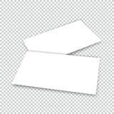 Tarjeta de visita con la plantilla de la cubierta de la maqueta de la sombra Imágenes de archivo libres de regalías