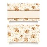 Tarjeta de visita con las rosas blancas. Vector EPS-10. Imagenes de archivo