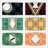 Tarjeta de visita con los modelos geométricos Estilo moderno de la tarjeta Imagen de archivo