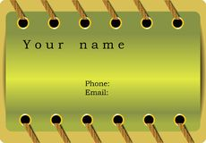 Tarjeta de visita Foto de archivo