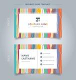 Tarjeta de visita creativa y pasteles coloridos de la plantilla de la tarjeta de presentación v stock de ilustración