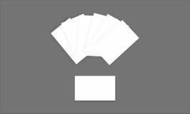 Tarjeta de visita de papel para la foto de la maqueta Fotografía de archivo libre de regalías