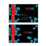 tarjeta de visita del cubo 3d Imagenes de archivo