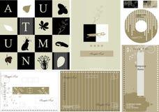 Tarjeta de visita del otoño -   Imagen de archivo