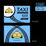 Tarjeta de visita del taxi Foto de archivo