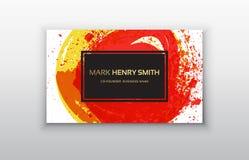 Tarjeta de visita del vector Diseño de lujo de la tarjeta de visita Imagen de archivo libre de regalías