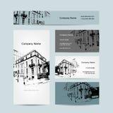 Tarjeta de visita, diseño urbano Calle de Barcelona Foto de archivo libre de regalías