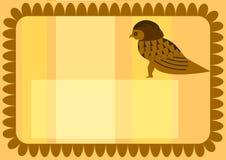 tarjeta de visita egipcia del buho Imagenes de archivo