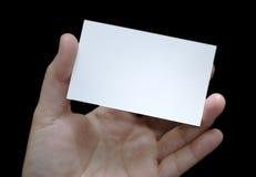 Tarjeta de visita en blanco fotografía de archivo