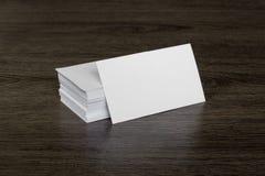 Tarjeta de visita en blanco Imágenes de archivo libres de regalías