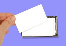 Tarjeta de visita en blanco Imagen de archivo