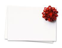 Tarjeta de visita en blanco Fotografía de archivo libre de regalías