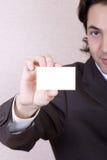 Tarjeta de visita en blanco Foto de archivo libre de regalías