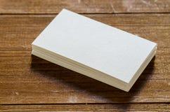 Tarjeta de visita en blanco blanca fotos de archivo libres de regalías