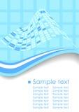 Tarjeta de visita en color azul en formato del vector Libre Illustration