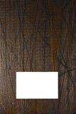 Tarjeta de visita en la madera Imagenes de archivo