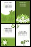 Tarjeta de visita floral - verde Imagen de archivo