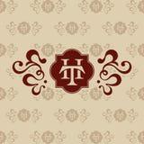 Tarjeta de visita de la letra del TH del logotipo Fotos de archivo