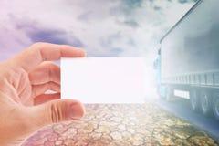 Tarjeta de visita para la compañía de transporte Imagen de archivo libre de regalías
