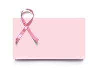 Tarjeta de visita rosada Imagen de archivo libre de regalías