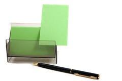Tarjeta de visita verde en un rectángulo (con el espacio para el texto) Foto de archivo