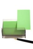 Tarjeta de visita verde en un rectángulo (con el espacio para el texto) Imagen de archivo