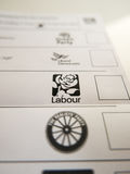 Tarjeta de votación con el logotipo de trabajo foto de archivo libre de regalías