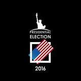 Tarjeta de votación en un fondo negro Imágenes de archivo libres de regalías