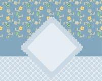 Tarjeta decorativa stock de ilustración