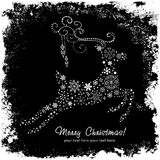 Tarjeta decorativa adornada de los ciervos de la Navidad Fotografía de archivo libre de regalías