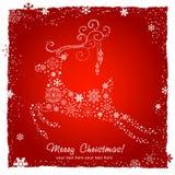 Tarjeta decorativa adornada de los ciervos de la Navidad Fotos de archivo libres de regalías
