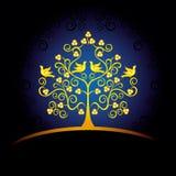 Tarjeta decorativa con el árbol Fotografía de archivo