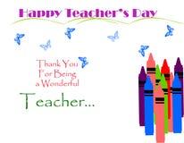 Tarjeta decorativa del día de los profesores ilustración del vector