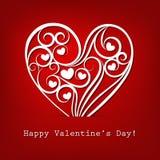 Tarjeta decorativa del día de tarjeta del día de San Valentín Vector Fotografía de archivo libre de regalías