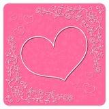Tarjeta decorativa del día de tarjeta del día de San Valentín Vector Imágenes de archivo libres de regalías