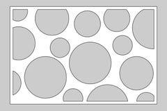 Tarjeta decorativa para cortar el laser o el trazador el panel geométrico del modelo del círculo del arte Corte del laser 2:3 del libre illustration
