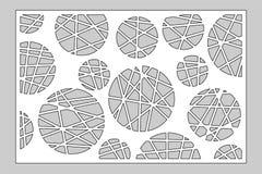 Tarjeta decorativa para cortar el laser o el trazador el panel geométrico del modelo del círculo del arte Corte del laser 2:3 del stock de ilustración