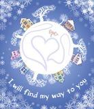 Tarjeta decorativa Reconocimiento del amor Imagen de archivo libre de regalías