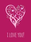 tarjeta del Árbol-corazón Fotografía de archivo libre de regalías