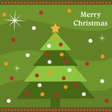Tarjeta del árbol de navidad Imagen de archivo libre de regalías