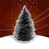 Tarjeta del árbol de navidad stock de ilustración