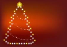 Tarjeta del árbol de navidad Ilustración del Vector